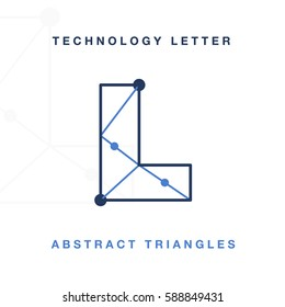 Abstract Letter Triangle Technology L
