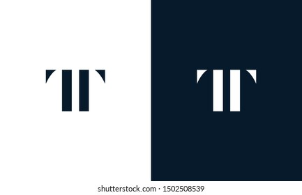 Abstract letter TT logo. This logo icon incorporate with abstract shape in the creative way. It look like letter T and T.