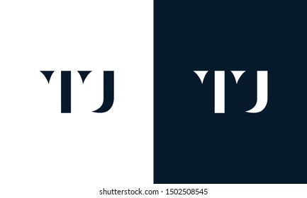 Abstract letter TU logo. This logo icon incorporate with abstract shape in the creative way. It look like letter T and U.