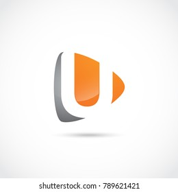 Abstract Letter U Logo Design. Vector Illustrator Eps.10