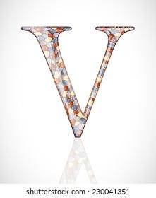 Abstract letter V.