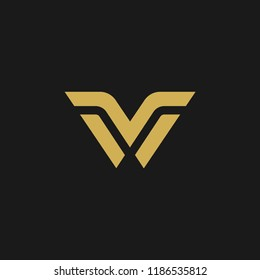 Abstract Letter V. M. MV. VM. NM. Logo Vector