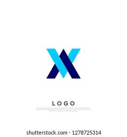 Abstract letter VA/AV logo design template. creative sign. Universal vector icon. Vector