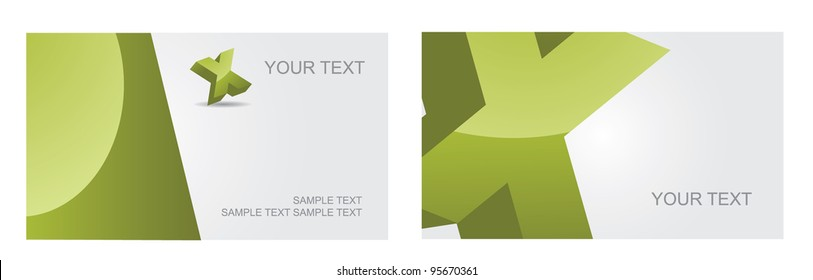 Abstract Letter X alphabet symbol icon business card set EPS 8 vector, grouped for easy editing. No open shapes or paths.