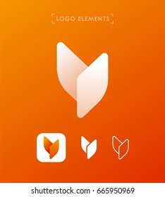 Abstract letter Y logo design. Simple application icon