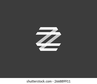 Abstract letter Z logo design template. Colorful creative sign. Vector icon.