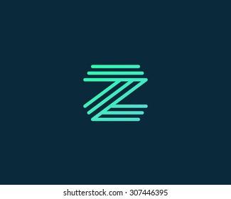 Abstract Letter Z logo design template. Line vector symbol. Premium elegant sign mark icon