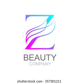 Abstract letter Z logo design template with beauty industry and fashion logo.cosmetics business, natural,spa salons. yoga, medicine companies and clinics