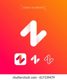 Abstract letter Z origami style logo template