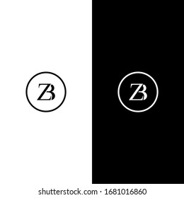 Abstract letter ZB logo vector.