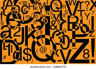 Abstract Letters Composition