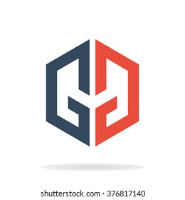 Abstract Letters G And Logo Template GG Icon Geometric