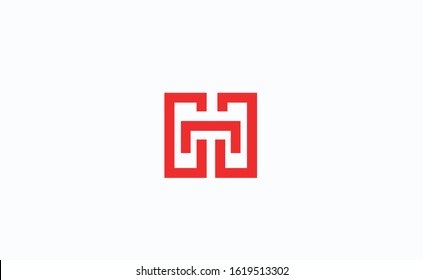 Abstract letters HT or TH logo. Vector logo design for business company.