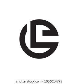 abstract letters le circle logo vector