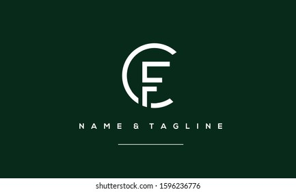 Abstract letters logo CF,FC,C and F