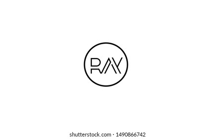 Abstract letters logo, RAY,ARY,YAR,R,A, and Y inside a circle
