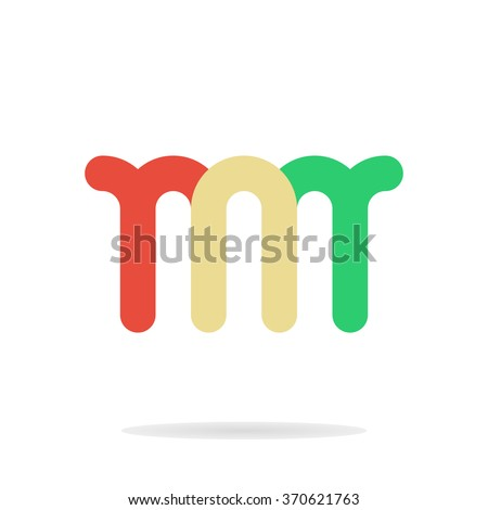 Abstract Letters M M Logo Template Stock Vector Royalty Free