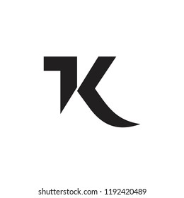 abstract letters tk simple geometric logo