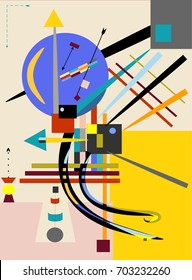 Abstract  light  background ,inspired by the  painter kandinsky