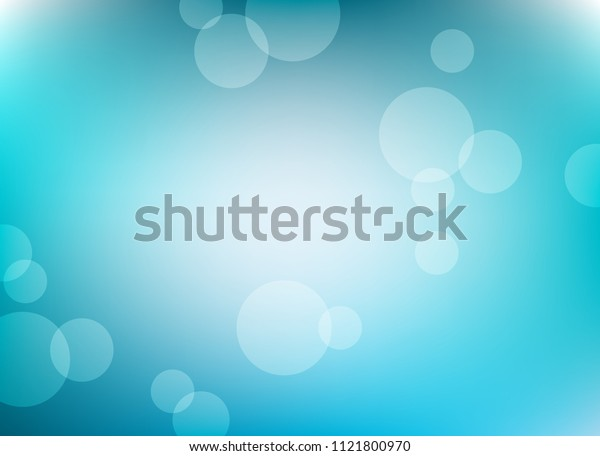 abstract light blue colorful bokeh defocused background.beautiful vector