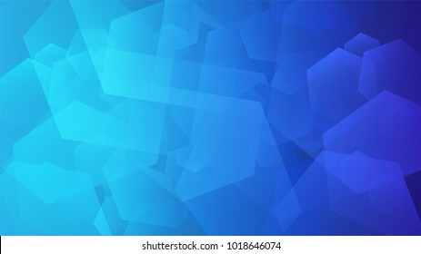 Abstract light blue geometric background, vector