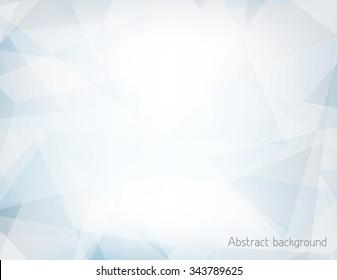 Fondo horizontal abstracto azul claro y gris texturado por triángulos caóticos. Patrón vectorial geométrico. Colores CMYK