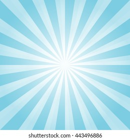 Abstract Light Blue rays background. Vector