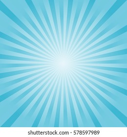 Abstract light Blue rays background. Vector.