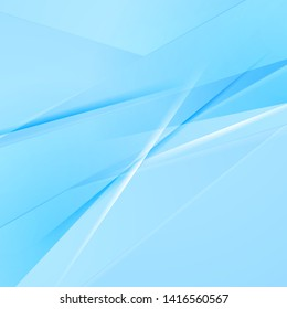 Abstract light blue shiny stripes modern background. Vector design