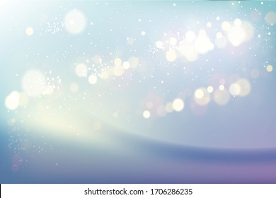 Abstract Light Bokeh Background, Vector Illustration