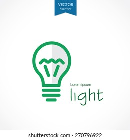 Abstract light bulb, vector logo