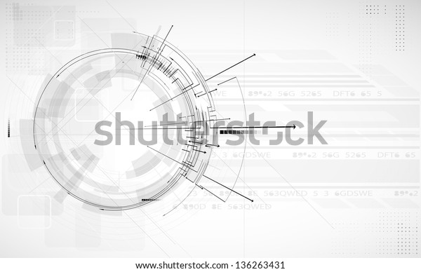 abstract light circuit computer line technology business banner