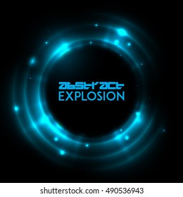 Abstract light explosion. Holiday light rays. Vector design layout for your flyers, covers, posters, brochures.