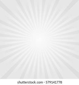 Abstract light Gray rays background. Vector
