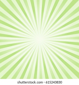 Abstract light Green rays background. Vector EPS 10, cmyk.