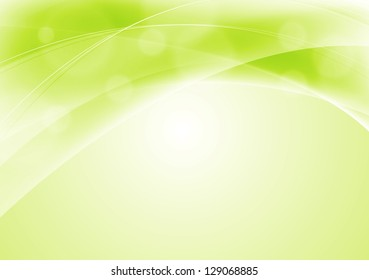 Abstract light green wavy background. Vector design eps 10. Gradient mesh included
