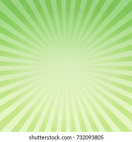 Abstract light Green Yellow gradient rays background. Vector EPS 10, cmyk