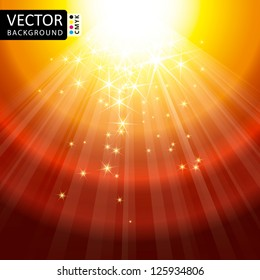Abstract Light Lens Flare Shine Stars Flying Rays Vector