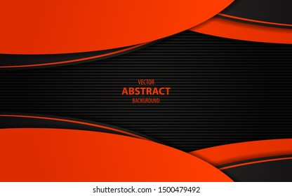 Abstract light metallic orange overlapping layer background. Technology style concept vector design for use frame, wallpaper, advertising, corporate