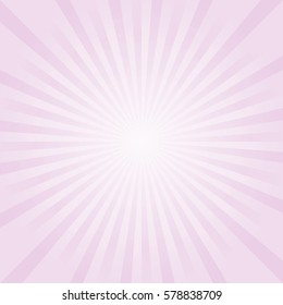 Abstract light Purple Pink rays background. Vector.