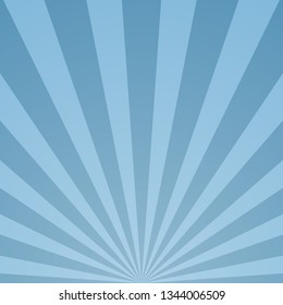 Abstract light rays blue background. Vector eps10