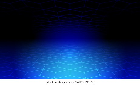 Abstract light and shade creative technology background. Vector illustration.