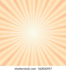 Abstract light Yellow Orange rays background. Vector