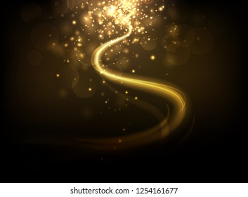 Abstract lighting background. Romantic & elegant.
