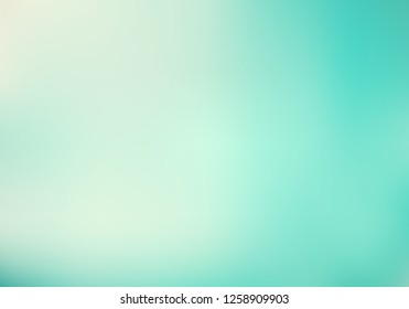 Abstract lighting effect gradient turquoise pastel green mint color background. Vector illustration