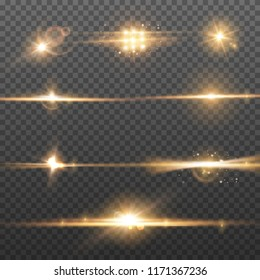 Abstract lighting flare effects. Burst glare and glitter light. Shiny blur background.