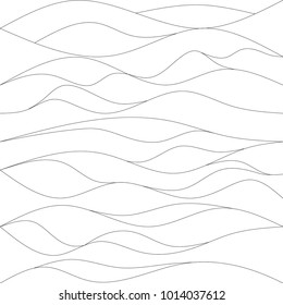 Abstract line arc pattern vector. Design dune black on white. Design print for textile, fabric, wallpaper, background.
