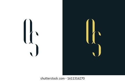 Abstract line art letter OS logo. This logo icon incorporate with two letter in the creative way. It will be suitable for Restaurant, Royalty, Boutique, Hotel, Heraldic, Jewelry.