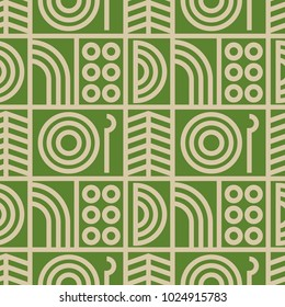 Abstract line art seamless pattern. For print, fashion design, wrapping, wallpaper
