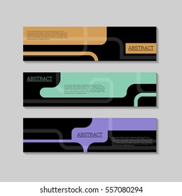 Abstract line background banners design template. Illustration, Vector eps10.